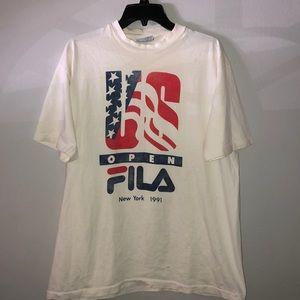 Vintage 90s US Open Fila New York t-shirt USA